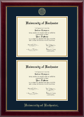 University of Rochester Diploma Frame - Double Document Diploma Frame in Gallery