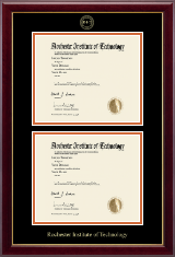 Rochester Institute of Technology Diploma Frame - Double Document Diploma Frame in Gallery