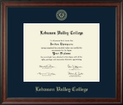 Lebanon Valley College Diploma Frame - Gold Embossed Diploma Frame in Studio