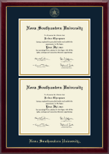 Nova Southeastern University  Diploma Frame - Double Document Diploma Frame in Gallery