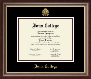 Iona College Diploma Frame - Gold Engraved Medallion Diploma Frame in Hampshire
