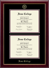 Iona College Diploma Frame - Double Document Diploma Frame in Gallery
