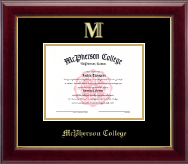 McPherson College Diploma Frame - Gold Embossed Diploma Frame in Gallery