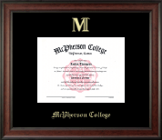 McPherson College Diploma Frame - Gold Embossed Diploma Frame in Studio