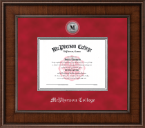 McPherson College Diploma Frame - Presidential Silver Engraved Diploma Frame in Madison