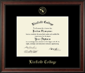 Linfield College Diploma Frame - Gold Embossed Diploma Frame in Studio