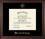 Marist College Diploma Frame - Gold Embossed Diploma Frame in Studio