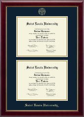 Saint Louis University Diploma Frame - Double Diploma Frame in Gallery