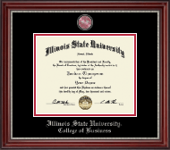 Illinois State University Diploma Frame - Masterpiece Medallion Diploma Frame in Kensington Silver