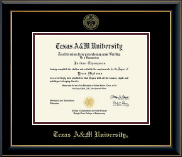 Texas A&M University Diploma Frame - Gold Embossed Diploma Frame in Onyx Gold