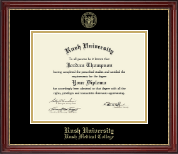 Rush University Diploma Frame - Gold Embossed Diploma Frame in Kensington Gold