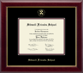 Sidwell Friends School Diploma Frame - Gold Embossed Diploma Frame in Gallery