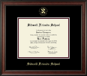 Sidwell Friends School Diploma Frame - Gold Embossed Diploma Frame in Studio