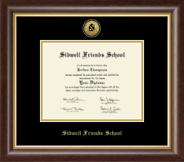 Sidwell Friends School Diploma Frame - Gold Engraved Medallion Diploma Frame in Hampshire