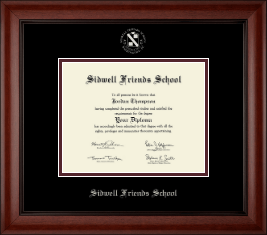 Sidwell Friends School Diploma Frame - Silver Embossed Diploma Frame in Cambridge