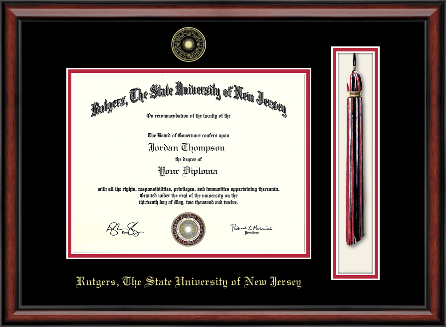 Rutgers The State University Of New Jersey Tassel Edition Diploma Frame In Southport