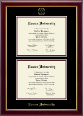 Rowan University Diploma Frame - Double Diploma Frame in Gallery