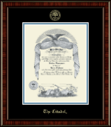 The Citadel The Military College of South Carolina Diploma Frame - Gold Embossed Diploma Frame in Ridgewood