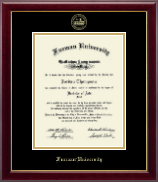 Furman University Diploma Frame - Gold Embossed Diploma Frame in Gallery
