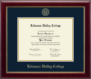 Lebanon Valley College Diploma Frame - Gold Embossed Diploma Frame in Gallery