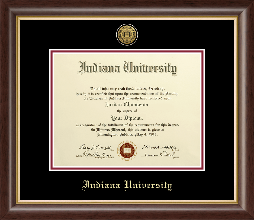Indiana University Southeast Gold Engraved Medallion
