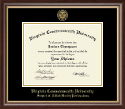 Virginia Commonwealth University Diploma Frame - Gold Engraved Medallion Diploma Frame in Hampshire