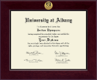 University at Albany State University of New York Diploma Frame - Century Gold Engraved Diploma Frame in Cordova