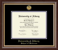 University at Albany State University of New York Diploma Frame - Gold Engraved Medallion Diploma Frame in Hampshire