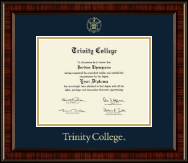 Trinity College Diploma Frame - Gold Embossed Diploma Frame in Ridgewood
