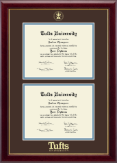Tufts University Diploma Frame - Double Document Diploma Frame in Gallery