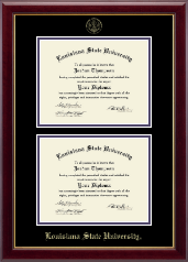 Louisiana State University Diploma Frame - Double Diploma Frame in Gallery