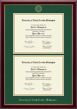 University of North Carolina Wilmington Diploma Frame - Double Diploma Frame in Gallery