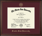 Florida State University Diploma Frame - Gold Embossed Diploma Frame in Studio