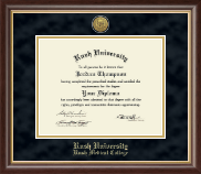 Rush University Diploma Frame - Gold Engraved Medallion Diploma Frame in Hampshire