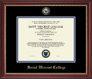 Saint Vincent College Diploma Frame - Masterpiece Medallion Diploma Frame in Kensington Gold