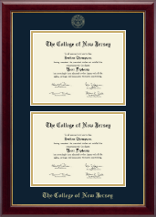 The College of New Jersey Diploma Frame - Double Document Diploma Frame in Gallery