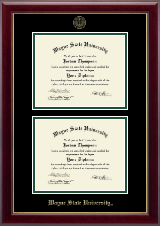 Wayne State University Diploma Frame - Double Diploma Frame in Gallery