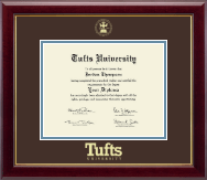 Tufts University Diploma Frame - Gold Embossed Diploma Frame in Gallery