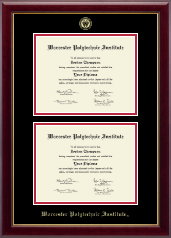 Worcester Polytechnic Institute Diploma Frame - Double Diploma Frame in Gallery