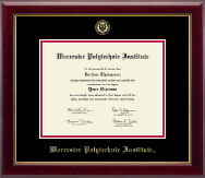 Worcester Polytechnic Institute Diploma Frame - Gold Embossed Diploma Frame in Gallery