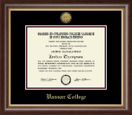 Vassar College Diploma Frame - Gold Engraved Medallion Diploma Frame in Hampshire