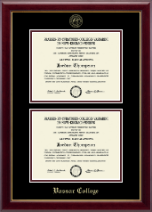 Vassar College Diploma Frame - Double Document Diploma Frame in Gallery