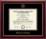 Vassar College Diploma Frame - Gold Embossed Diploma Frame in Gallery