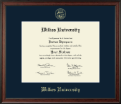 Wilkes University Diploma Frame - Gold Embossed Diploma Frame in Studio