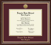 Loyola Law School Los Angeles Diploma Frame - Gold Engraved Medallion Diploma Frame in Hampshire