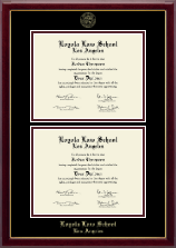 Loyola Law School Los Angeles Diploma Frame - Double Document Diploma Frame in Gallery