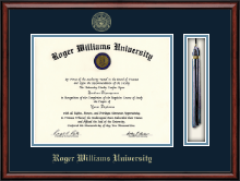 Roger Williams University Diploma Frame - Tassel Edition Diploma Frame in Southport