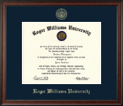 Roger Williams University Diploma Frame - Gold Embossed Diploma Frame in Studio