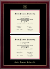 Saint Francis University Diploma Frame - Double Diploma Frame in Gallery