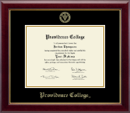 Providence College Diploma Frame - Gold Embossed Diploma Frame in Gallery